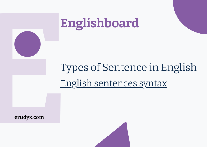 What kind of composition do we have as sentence in English? Part 2