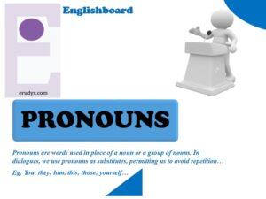 Pronouns | personals, possessives, reflexives