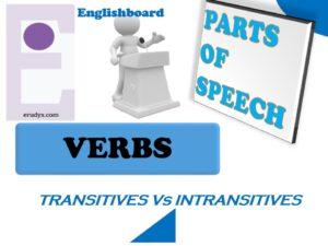 Verbs: transitive Vs intransitive.