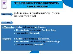 Tenses in English - Present Continuous - Present progressive